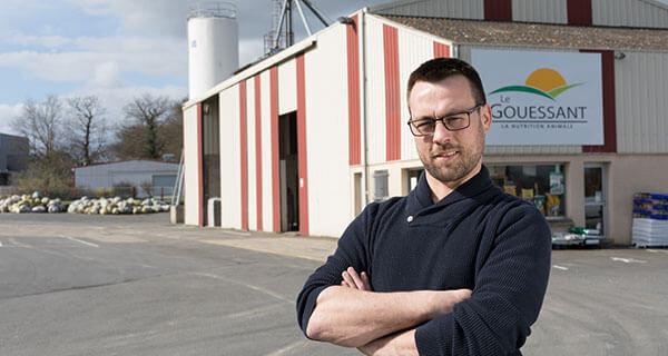 Damien, responsable de magasin Le Gouessant