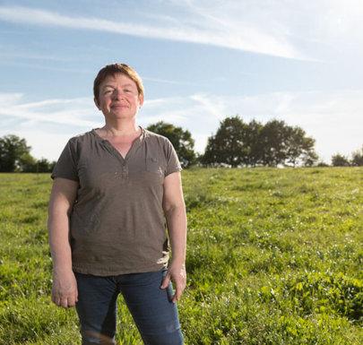 Marie Andrée, éleveuse de porcs Terres de Breizh