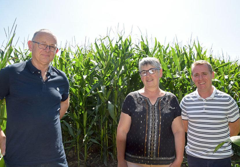 Gérard, Nicole Colas et Mickaël Mahé