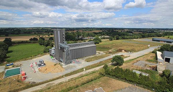 silo de céréales bio à châteaubourg