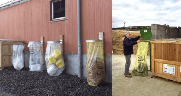 poubelles en exploitation agricole