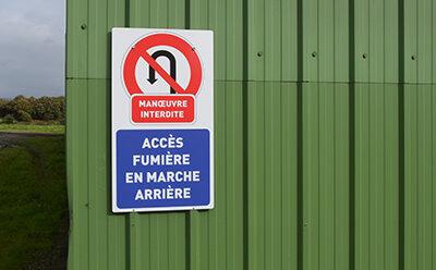 Signalisation manoeuvre interdite