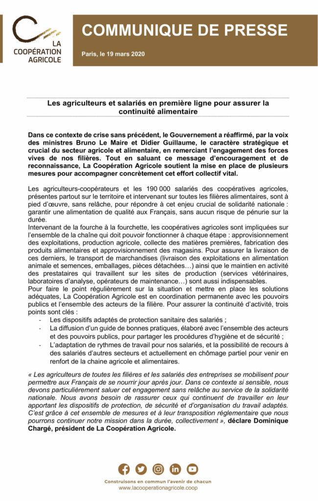 CP La Coopération Agricole