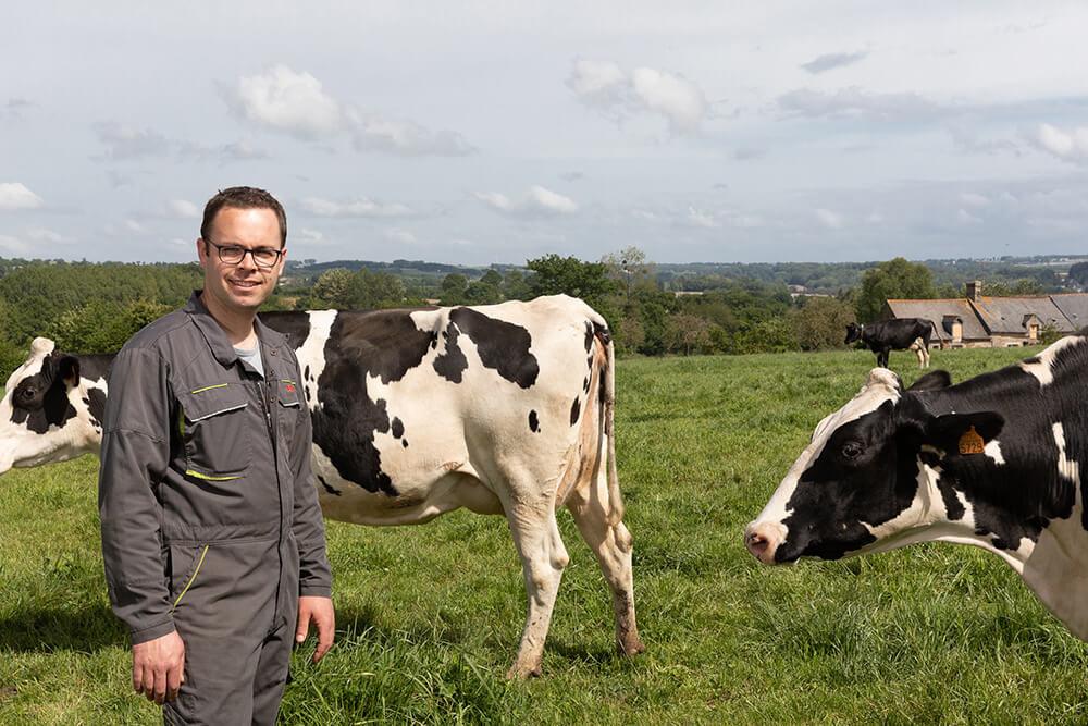 Béranger, éleveur de vaches laitières